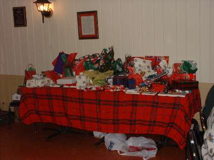 CMGC holiday party gifts and door prizes