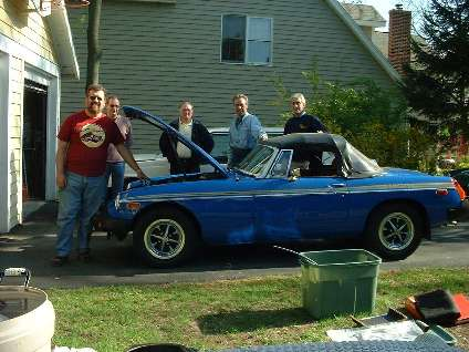 Rubber bumper MGB and work crew